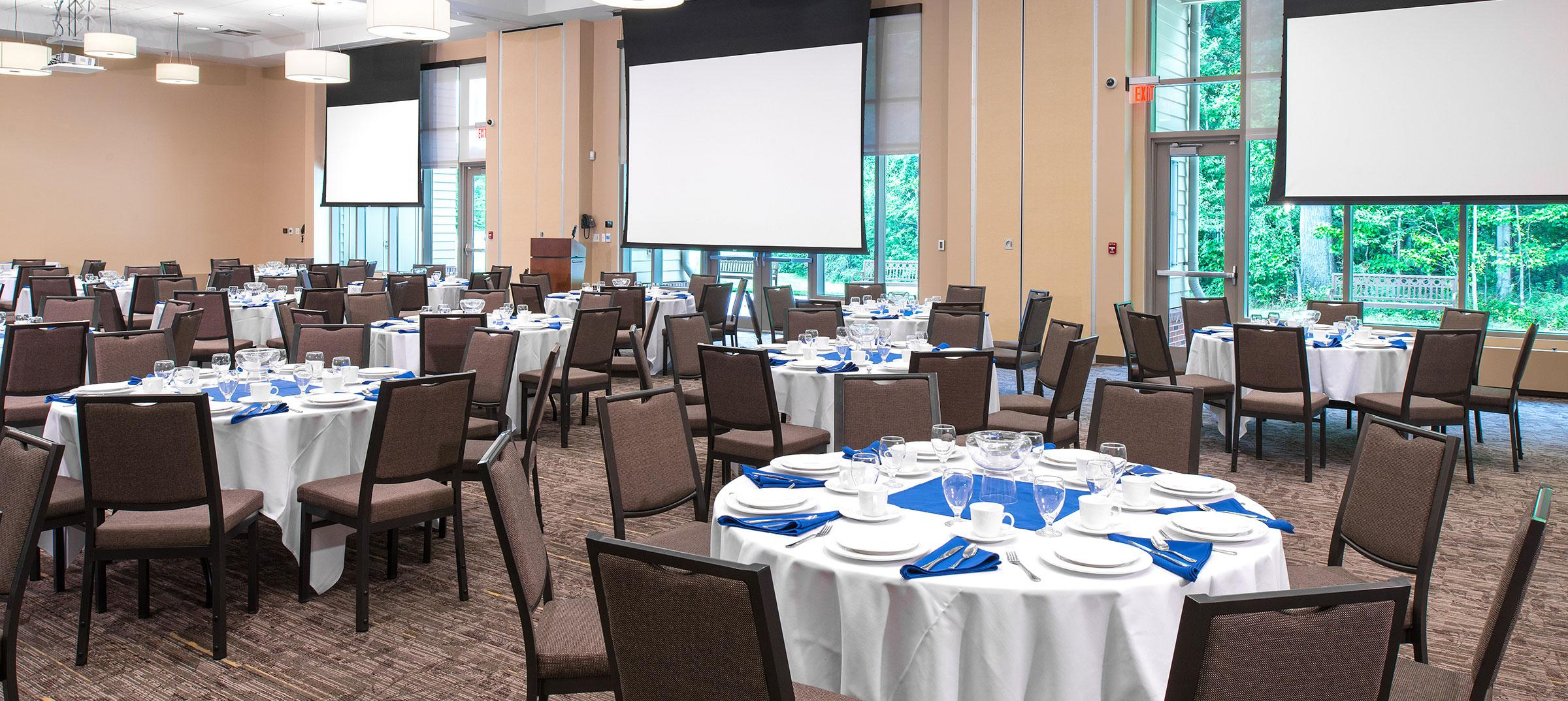 The Neeley Center ballroom